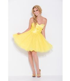 Hot Sale Yellow Sweetheart Short Graduation Dresses Beads Tiered Tulle School Prom Dress Party Gowns Back Zipper Cheap Girl