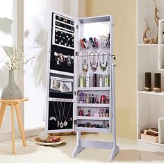Shelving Solutions Jewelry Cabinet Armoire, Mirrored Jewe... https://www.amazon.com/dp/B076MFRFMN/ref=cm_sw_r_pi_dp_U_x_ggwIAbXAQB1NZ
