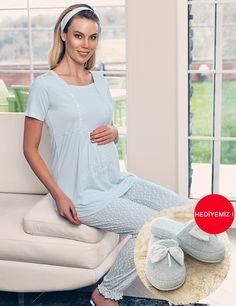 Şahinler Maternity Nursing Dress, Slippers, Tunic Tops, Women's Fashion, Dresses, Decor, Babydoll Sheep, Breast Feeding, Underwear
