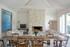 Sorrento styling with Emma Travers… Modern Ranch, Sorrento, White Stone, Fireplaces, My House, New Homes, Dining Table, Future, Country