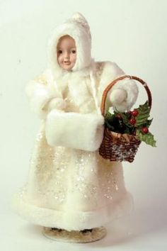 snowgirl & holly basket