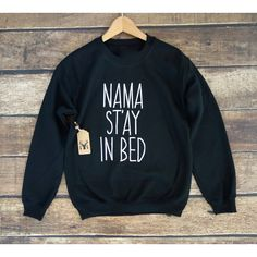 Namaste in Bed Sweatshirt Namaste in Bed Shirt Namaste in Bed Jumper... ($24) ❤ liked on Polyvore featuring tops, black, sweatshirts, women's clothing, checked shirt, checkered shirt, unisex tops, check pattern shirt and unisex shirts