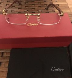 Cartier Glasses for Sale in Brooklyn, NY - OfferUp Cartier Glasses Men, Cartier Sunglasses, Womens Glasses Frames, Rimless Frames, Vogue, Eye Glasses, Attraction, Eyewear, Steampunk