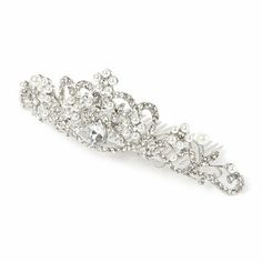 Crystal and Pearl Flowers Tiara Hair Comb | Claire's