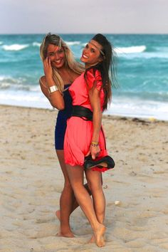 Capucine Anav et Aurélie Dotremont Cover Up, Beach, Dresses, Actresses, Famous Women, Dress, Gowns, The Beach, Seaside