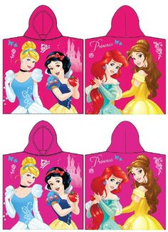 Poncho de bain avec capuche Princesses
