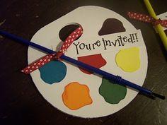 Svg File - Birthday party art invites