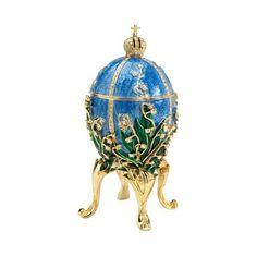 Empress Valentina Faberge-Style Collectible Enameled Egg