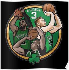 Celtics Kyrie Irving Al Horford Gordon Hayward Poster