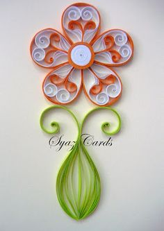 Fancy quilled flower