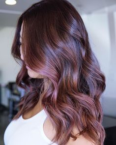 17 Stunning Examples of Balayage Dark Hair Color - Style My Hairs Violet Brown Hair, Deep Brown Hair, Red Ombre Hair, Blonde Ombre, Burgundy Hair, Black Hair, Rich Hair Color, Cool Hair Color, Hair Colors