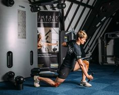 Welsh weightlifter Michaela Breeze MBE trains with #Technogym #KINESIS station.