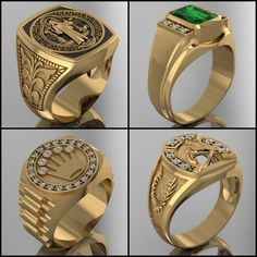 WWW.HACEMOSTUSJOYAS.COM Mens Ring Designs, Gold Ring Designs, Gold Jewellery Design, Mens Gold Bracelets, Mens Gold Jewelry, Mens Gold Signet Rings, Gents Gold Ring, Gold Finger Rings, Silver Skull Ring