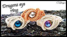 Wire Rings Tutorial, Ring Tutorial, Macrame Tutorial, Wire Jewelry Designs, Jewelry Tools, Jewelry Rings, Jewelry Making, Jewellery, Dragon Eye