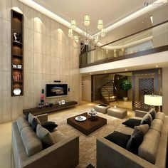 types of interior design - Living room styles, White living rooms and Gray fabric on Pinterest