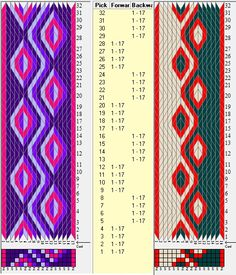 Simples- 17 y 16 tarjetas, 4 / 3 colores, secuencias 4F-4B // sed_323 diseñado en GTT༺❁