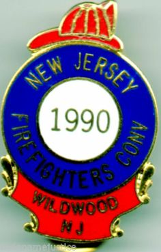 1992 NEW JERSEY STATE  Firefighters Convention Collectible Lapel Pin WILDWOOD