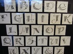 zentangle+letters | Jane had fun creating a whole zentangle alphabet.