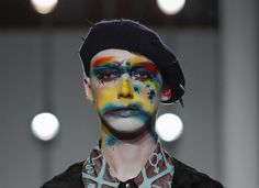 makeup at charles jeffrey by lucy bridge inspired by the artist arnulf rainer Arnulf Rainer, Best Makeup Products, Make Up, Face, Artist, Instagram Posts, Inspiration, Beauty, Bridge