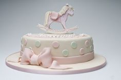 Charlotte's christening cake by Sweet Tiers, via Flickr