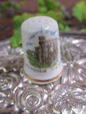 Vintage Bone China Windsor Castle Thimble - Rare! Made in England