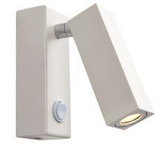 Endon 'Bock' 1 Light Wall Light, Matt White - 68967 None