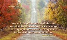 Isaiah 53:11 - Verse for March 15