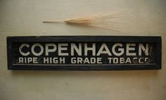 Copenhagen Tobacco Ripe High Grade 1940s Antique by AmbientAtelier