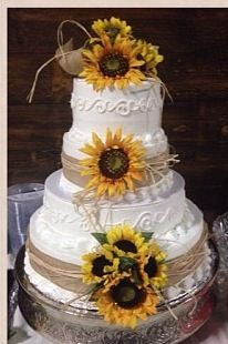 like the flowers of this one--maybe not as many -country wedding cake