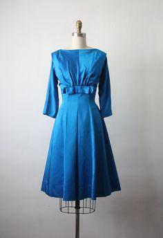 1950's Satin Cocktail Dress