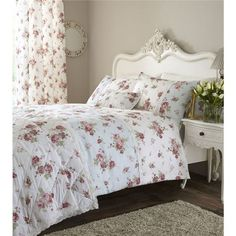 Catherine Lansfield Home Annabella Single Cotton Rich Duvet Cover Set - Duck Egg
