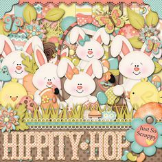Hippity Hop Digital Scrapbook Kit  Digital by JssScrapBoutique, $4.99