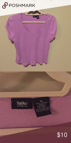 Cute Sort of cropped Mossimo top Really cute and comfortable cotton Mossimo top. It's slightly cropped and a great unusual color Mossimo Supply Co Tops Blouses
