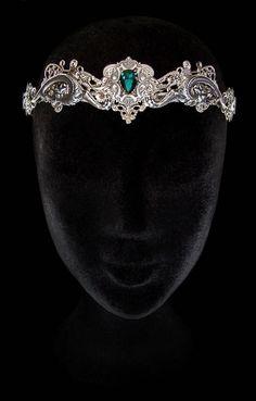 Dragon Crown - Emerald Green - Khaleesi - Medieval - Fantasy - Circlet - Renaissance - Queen - Daenerys Targaryen - Game of Thrones
