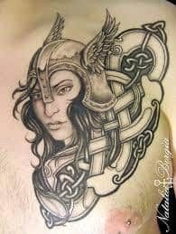 What does valkyrie tattoo mean? We have valkyrie tattoo ideas, designs, symbolism and we explain the meaning behind the tattoo. Tattoo Shop, I Tattoo, Valkyrie Tattoo, Nordic Tattoo, Tattoo Feminina, Professional Tattoo, Tattoos With Meaning, Tattoo Studio, Girl Tattoos