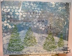 Merry and Bright Holiday Canvas created by www.carmenwhithead.com for Bella Crafts Publishing