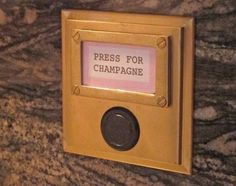 Champagne Button / #TreatYoSelf / Parks and Rec