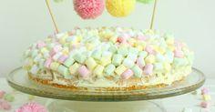 Nun habe ich den Kuchen für euch,   den es am Geburtstag meiner Tochter gab.   Ja, ich gebe zu, wir hatten eigentlich das Motto Eiskönigin....