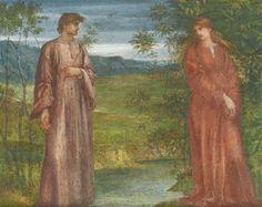 The Last Parting of Helga and Gunnlaug by Charles Fairfax Murray