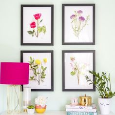 Download and print your own copies of this DIY live botanical artwork, or learn how to make them yourself at home!