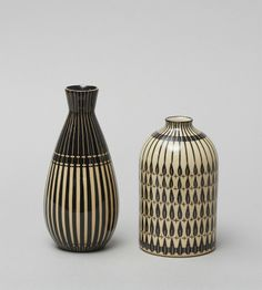 hand-painted ceramic vases / / Hedwig Bollhagen