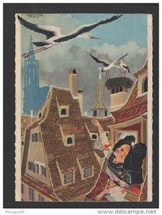 Alsace, Lorraine, Alsatian, Illustration, France, Provence, Painting, Image, Fiction