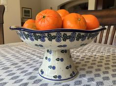 Polish pottery - bowl with pedestal. Bought it half off its original price.