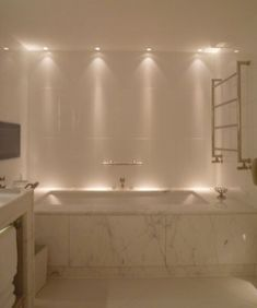 Luxury Bathroom Master Baths Wet Rooms is no question important for your home. Whether you choose the Small Bathroom Decorating Ideas or Luxury Bathroom Master Baths With Fireplace, you will make the best Luxury Master Bathroom Ideas for your own life. Bathroom Lighting Design, Shower Lighting, Bathroom Light Fixtures, Bathtub Lighting, Lighting For Bathrooms, Vanity Lighting, Bathroom Spotlights, Bathroom Design Luxury, Kitchen Lighting