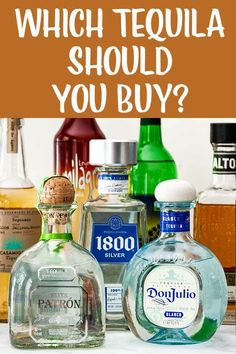 What Tequila Should You Buy? Confused by tequila? Ever wondered what words like anejo and blanco mean? What's best for a straight-up margarita, or sipping neat, or a fruity pitcher cocktail? In this guide to tequilas, we break it all down for you! Best Sipping Tequila, Tequila Tasting, Tequila Sangria, Vodka Cocktails, Cocktail Drinks, Alcoholic Drinks, Summer Cocktails, Mojito, Best Cheap Tequila