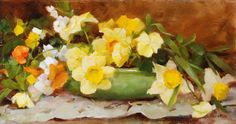 Kathy Anderson- Daffodils and Pansies
