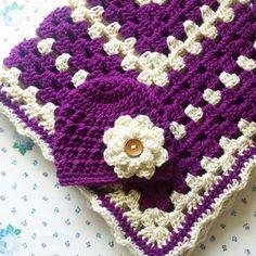Crochet Baby Blanket and Beanie Set by Rebecca K Crochet