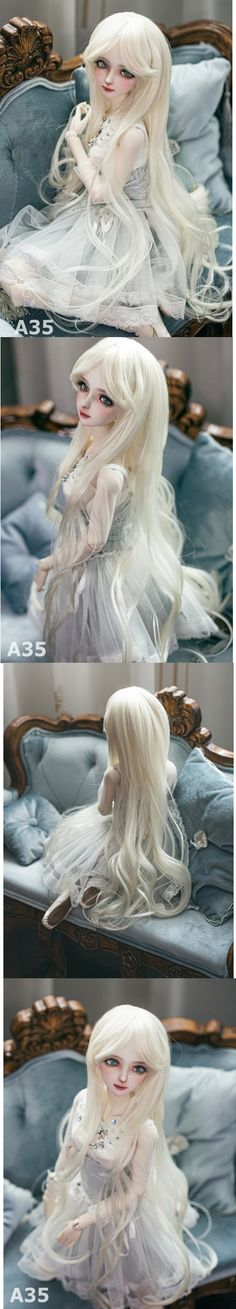 1/3 Wig Beige Long Curly Hair for SD Size Ball-jointed Doll_WIG_Ball Jointed Dolls (BJD) company-Legenddoll