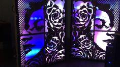#led #arduino #adafruit #huzzah #glediator #lasercut #djbooth thank you mucho Scotty by lucasrodart