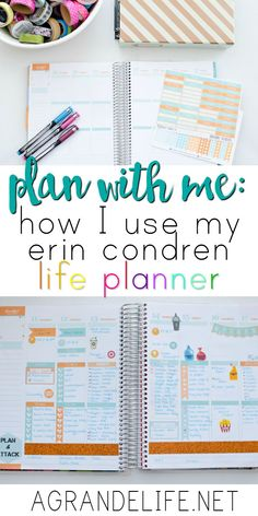 Did you buy an Erin Condren Life Planner but don't know where to start? I walk you through how I use my Erin Condren Life Planner to keep all of our activities and appointments in order and get us where we need to be! To Do Planner, Erin Condren Life Planner, Planner Pages, Happy Planner, Planner Ideas, Organized Planner, School Planner, Arc Planner, Home Planner